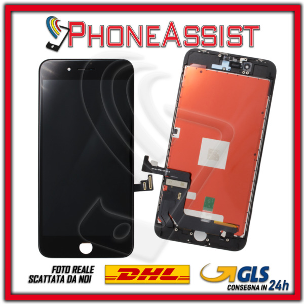 DISPLAY LCD VETRO TOUCH Apple iPhone 8 Plus SCHERMO ORIGINALE TIANMA Nero