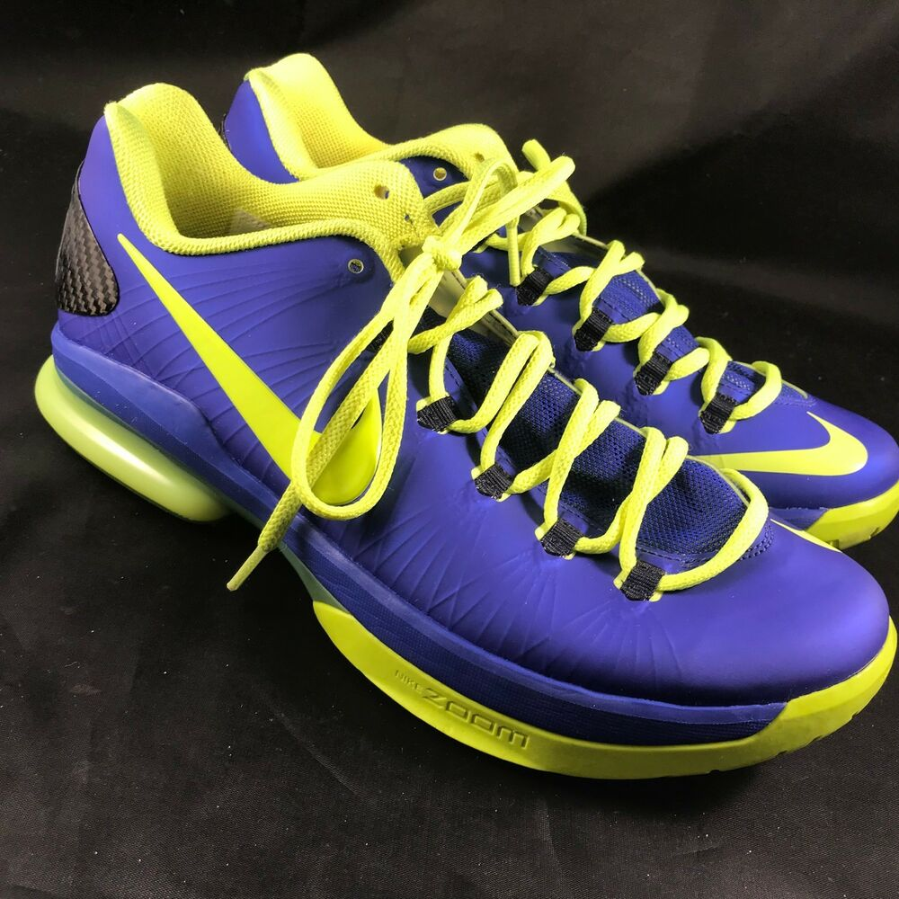 online store c48aa 44e4e Details about NIKE KEVIN DURANT KD V ELITE 585386-400 SZ 9 EYEBALL NERF  PEARL WTKD GALAXY