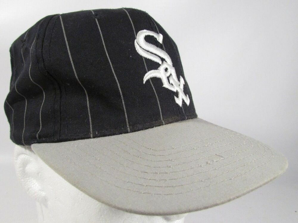 Details about Chicago White Sox Hat Vintage Starter Pinstripe MLB Snapback  Cap b2e566b498e