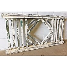 1900's Wooden PORCH RAILING Square Balusters CRAFTSMAN / MISSION Style ORNATE