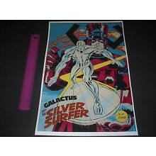 MARVEL COMICS GALACTUS AND THE SILVER SURFER POSTER PIN UP JACK KIRBY ART
