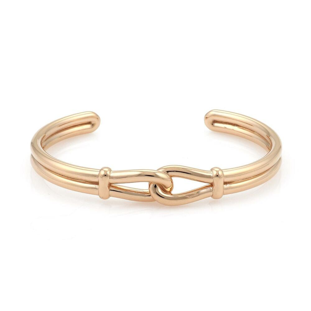 cec60437f Details about Tiffany & Co. Picasso 18k Rose Gold Interlaced Loop Cuff Bangle  Bracelet