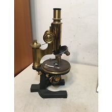 Rare Antique Carl Zeiss Microscope W/ 4 Objectives Brass Parts Early