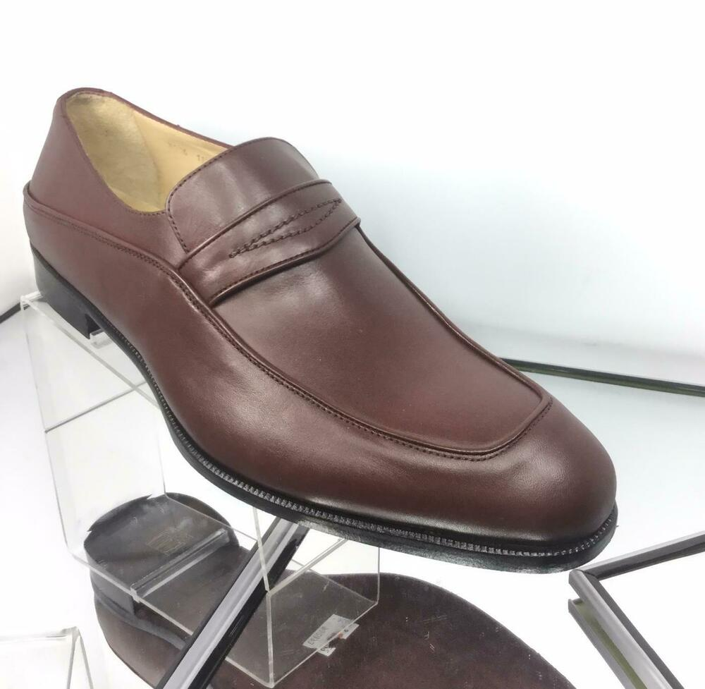 c48dfb783a2 Details about NEW SAKS FIFTH AVENUE Brown Leather Loafers (Size 44.5  IT 11.5 US) -  475.00!