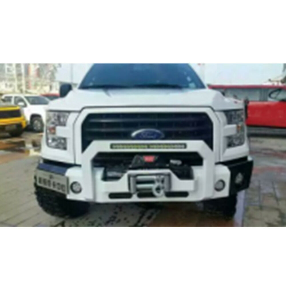 Details About Front Per Hood Winch Plate Heavy Duty For Ford F150 2016 2018 Texture Black