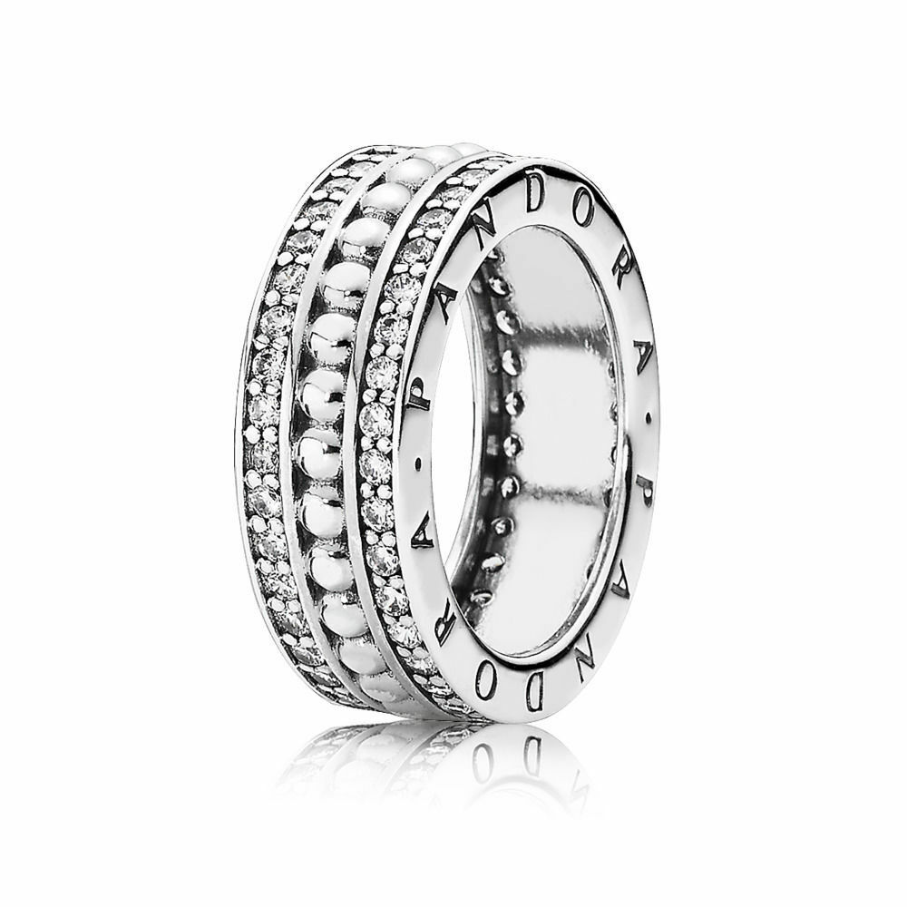 5d1bb58a1 Details about Forever Pandora Silver Statement Ring 190962CZ RRP $159