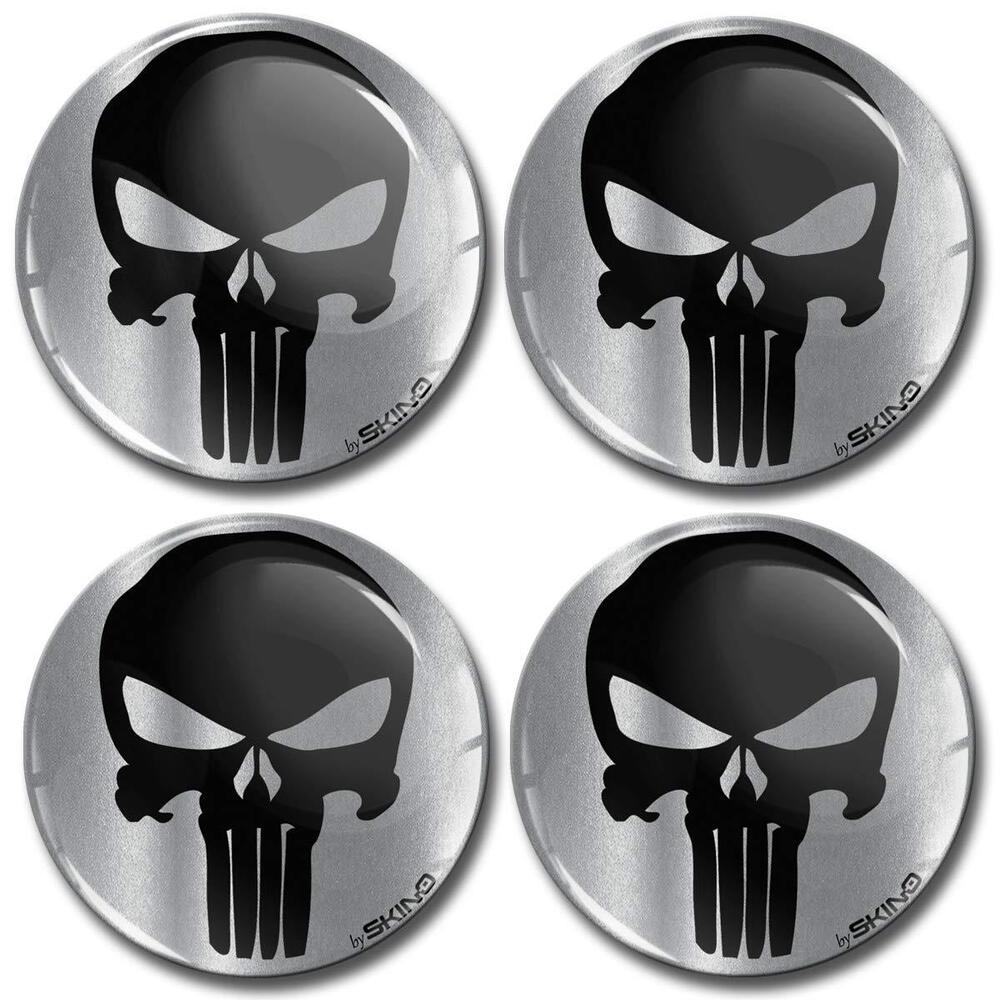 Details about 4x60mm silicone domed stickers wheel centre hub caps punisher badge emblem a 79