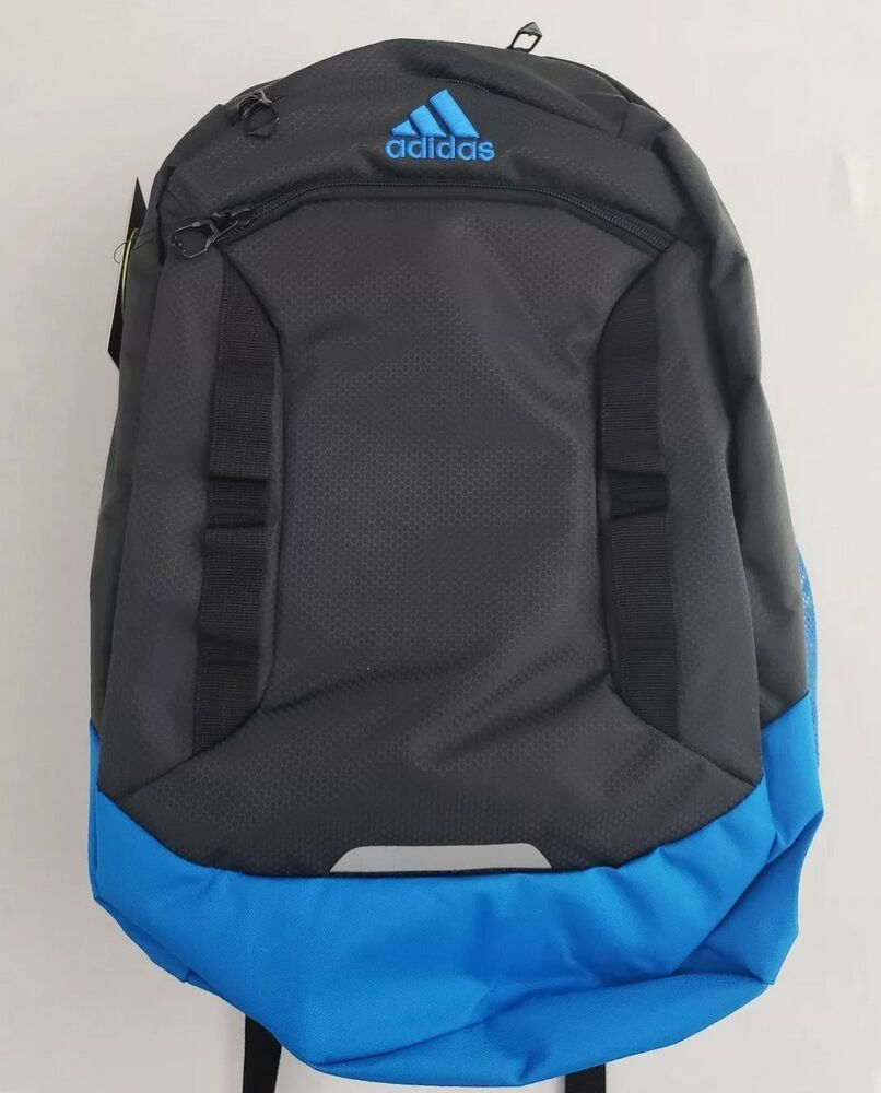 Details about Adidas Excel IV Laptop Gray Blue Backpack Media Pocket  Loadspring Tech LIFETIME 006a2a195a4dd