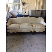 Antique Carved Wood Sofa Couch