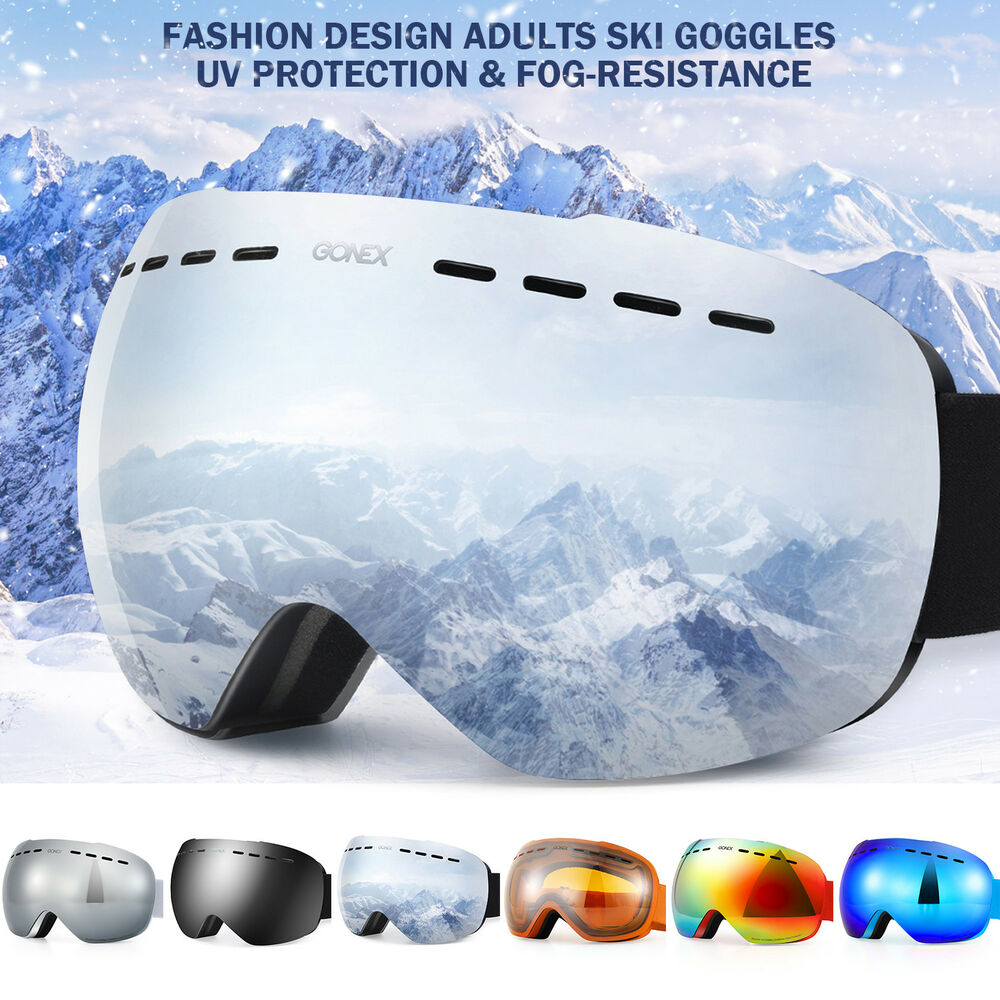 dadef30c2906 Details about Unisex Ski Goggles Double Anti Fog Lenses UV400 Protection  For men women Skiing