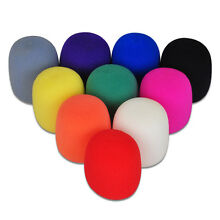 Multicolor Handheld Stage Microphone Windscreen Foam Mic Cover OJ