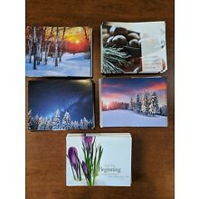 Lot of 123 Brian Buffini Blank Winter Theme Notecards & Envelopes