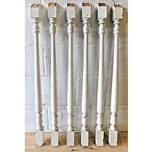 Six 1890's Wooden STAIR BALUSTERS Turned Railing Spindles VICTORIAN Style ORNATE