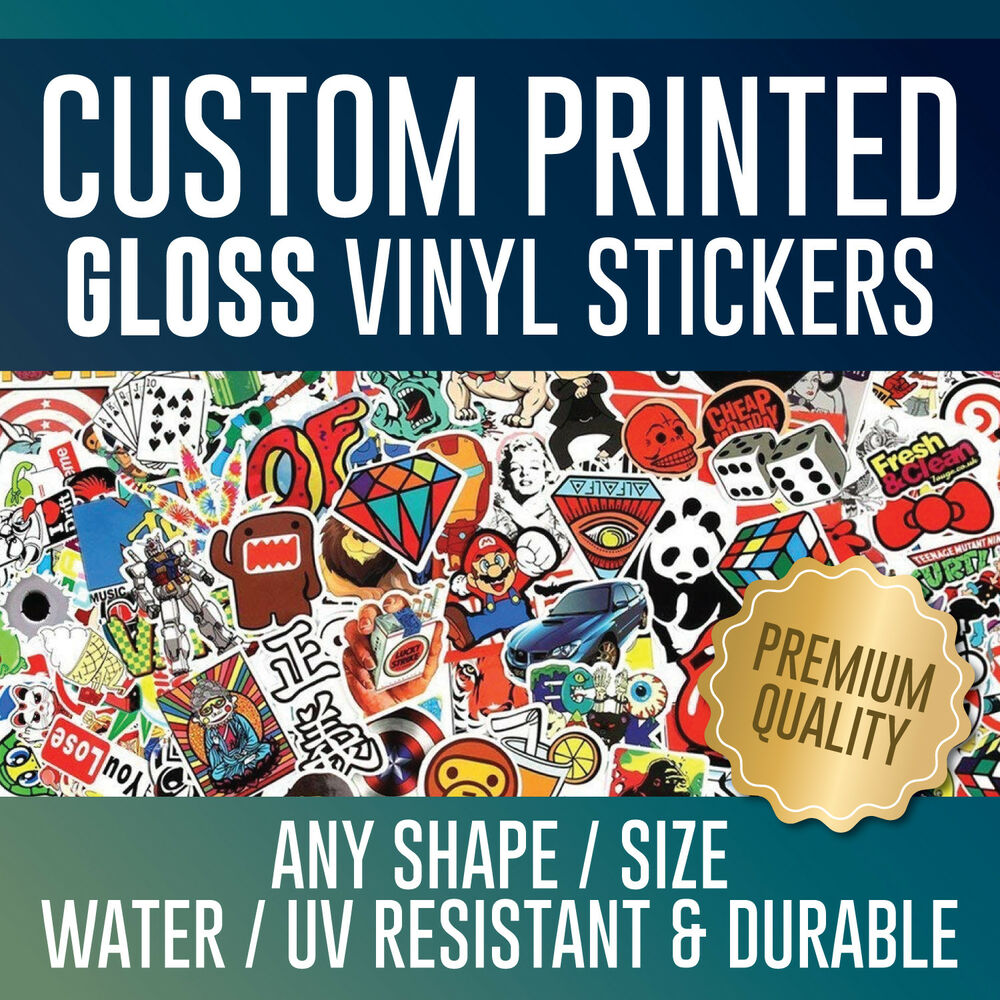 Details about custom printed gloss vinyl stickers personalised business sticker printing