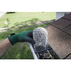 Gutter Guard 3 Inch Expand Aluminum Downspouts Filter Strainer. Pack of 4