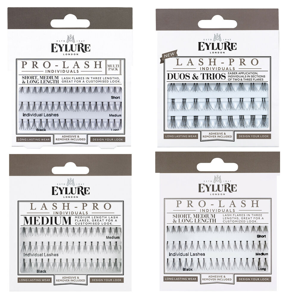 Eylure Pro Lash Individual Flare False Eyelashes Glue Shortmedium