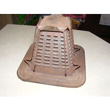 antique primitive tin 4 slice  1909 WOOD STOVE ASSCESSORY bread toaster