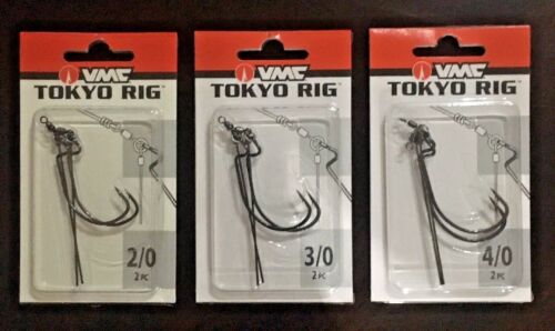 VMC Tokyo Rig 2 Packs of 2 (4 Rigs Total)  Black Nickel  - Choose