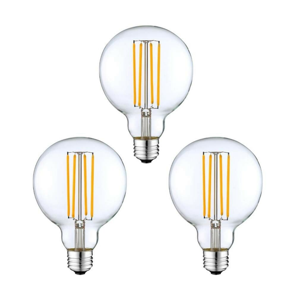 Details About 3 Pack Modvera G25 Led Globe Light Bulb 40 Watt Equivalent Uses Only 4