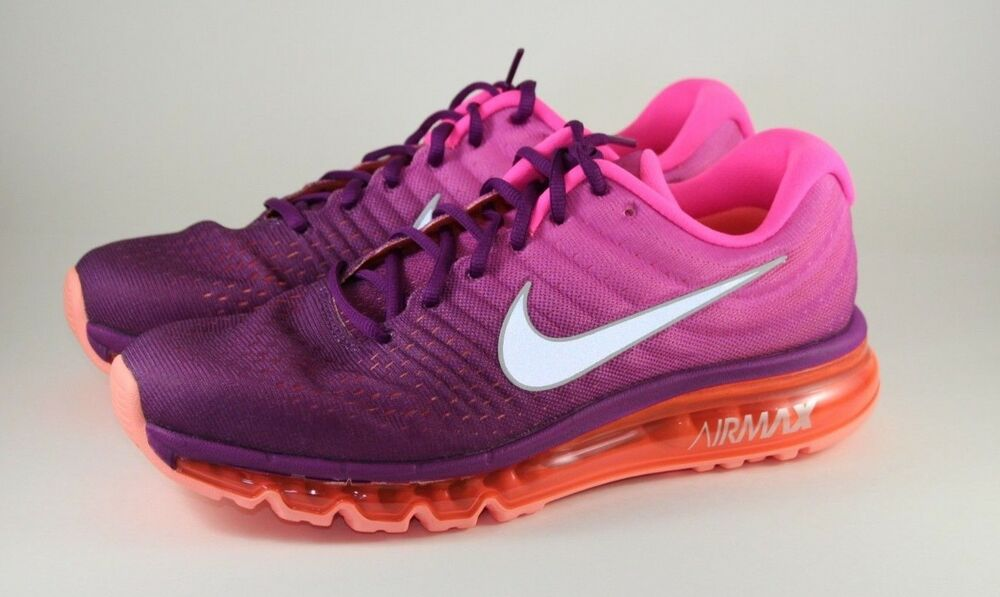 low priced fdea2 492df WMNS Nike Air Max 2017 Running Training Shoes Grape Pink 849560-502 Size 7   eBay