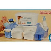 Munchkin Diaper Duty Organizer Blue, holds Wipe Warmer, 20 Diapers Baby products
