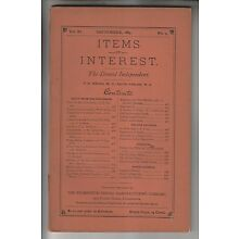 SEPT 1889 PUBLICATION - ITEMS OF INTEREST - WILMINGTON DENTAL MANUFACTURING CO