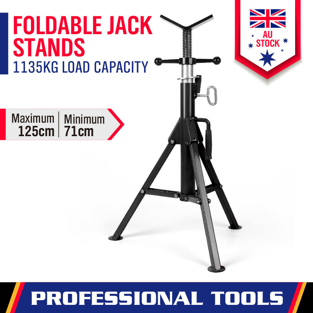 Pipe Jack Stands >> Welding Stand Pipe Jack Stand Folding Legs Heavy Duty Adjustable