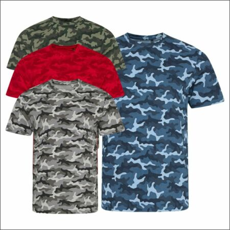 img-AWDis Men's Camouflage Classic T-Shirt Army Cotton Tee Camo Print Casual Tee Top