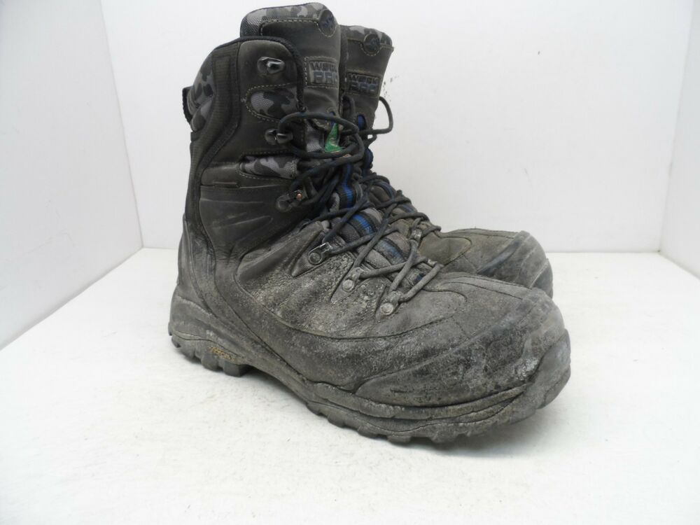 fe4028d726bf Details about WORK PRO Men s 8   WP Vibram Composite Toe Composite Plate  Work Boots Black 12EE