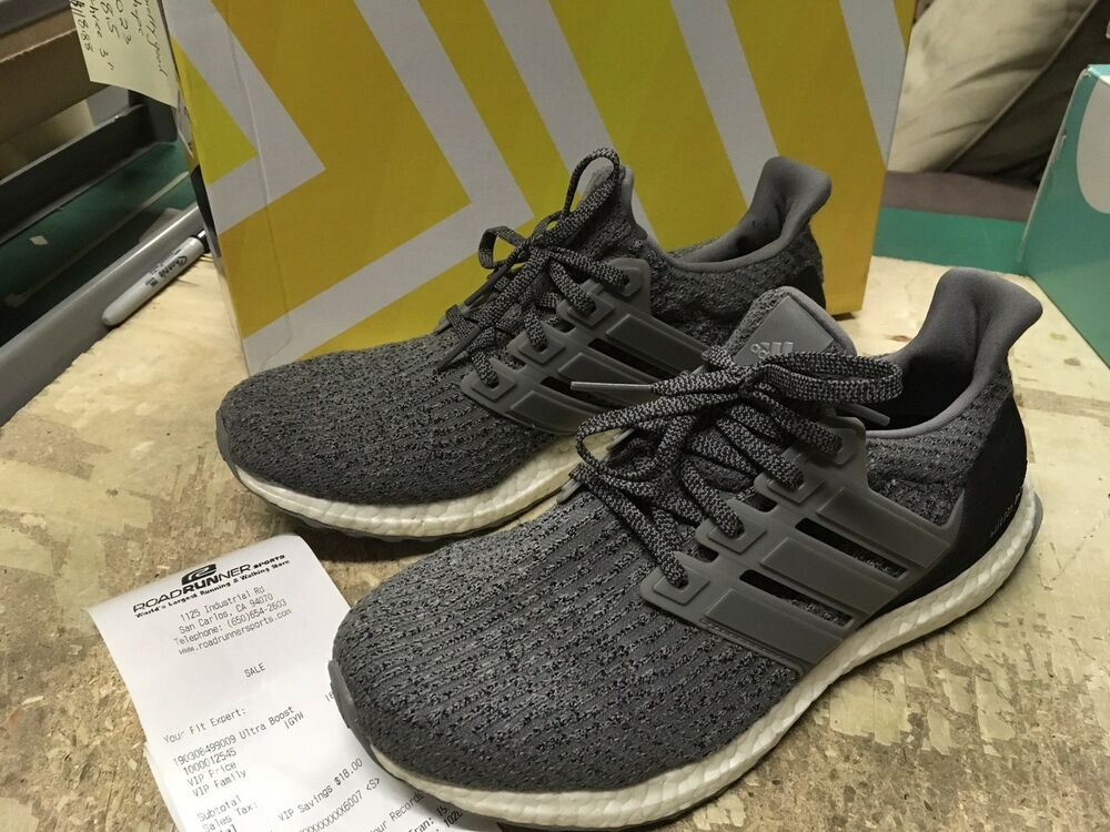 6b2de9003 Details about USED Men s ADIDAS ULTRA BOOST TRIPLE GREY 3.0 S82023 SZ 8.5  Free SHIP RUNNING