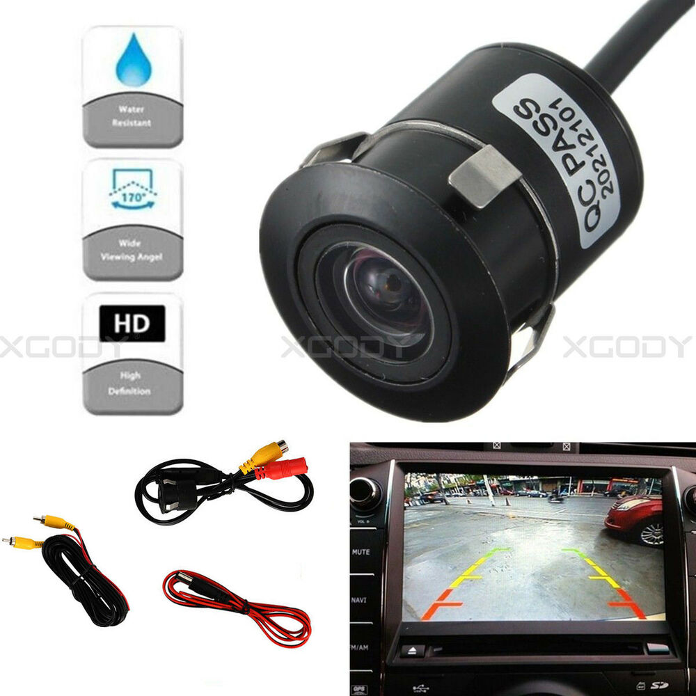 Car Video Useful 12v 170° Cmos Waterproof Auto Reversing View Parking Backup Hd Camera Kit White Always Buy Good Rear View Monitors/cams & Kits
