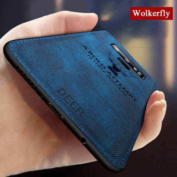 For Samsung Note 9 8 S8 S9 Plus Case Deer Cloth Silicone Protective Back Cover