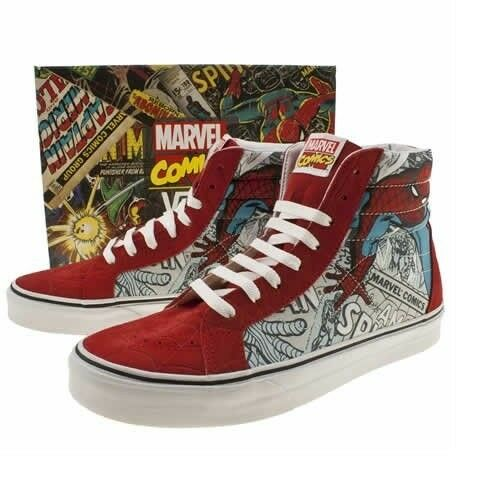 4ab88a034bc Details about Vans Spider-man Red White Sk8 Hi Classic Marvel Comics DS  Limited Rare  sz 8