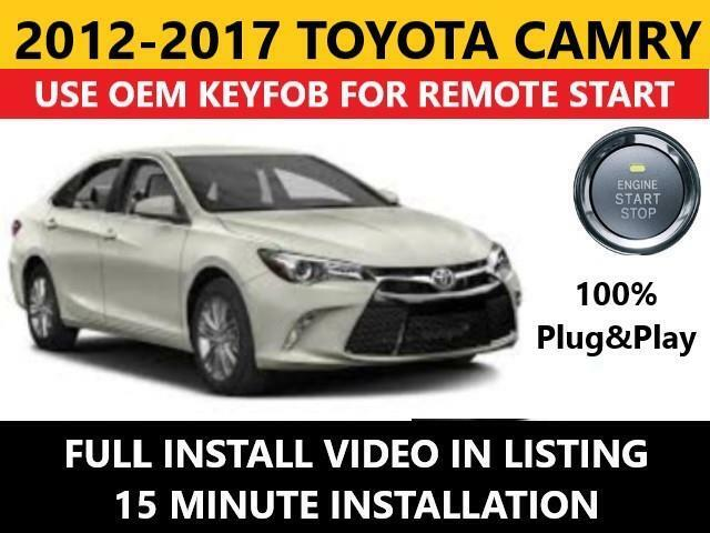 Details About Toyota Camry Pts Plug Play Remote Start Complete Kit 2017