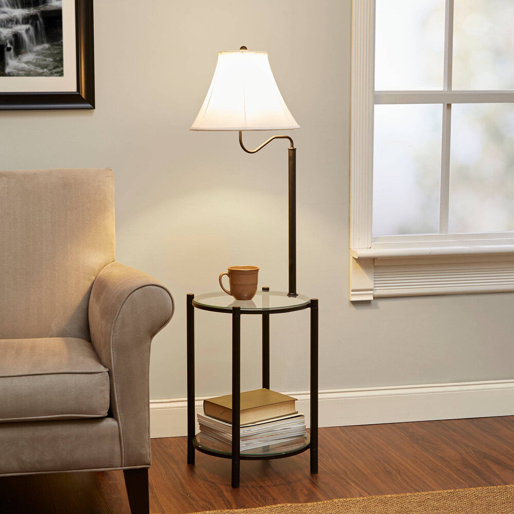 Details About Floor Lamps For Living Room With Shelves Reading Bedroom End Table Lamp Modern