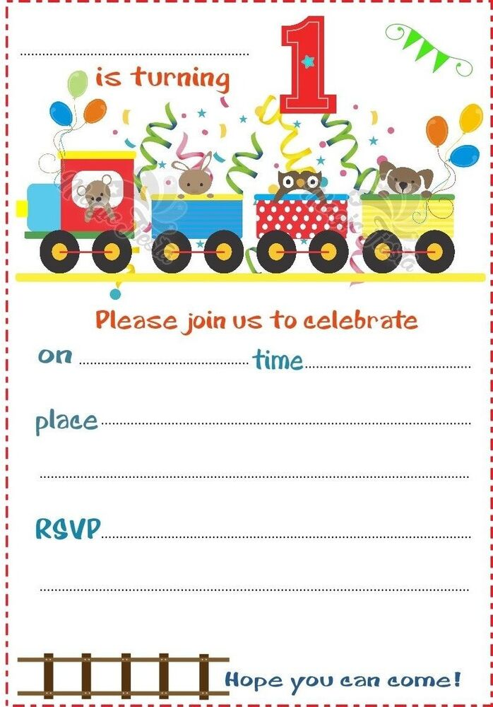 1st 2nd 3rd Birthday Party Childrens Blank Invites
