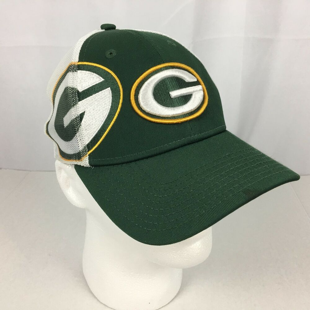 Details about Green Bay Packers Trucker Cap New Era 39THIRTY Green White  Small-Medium NFL EUC c379a7a2311