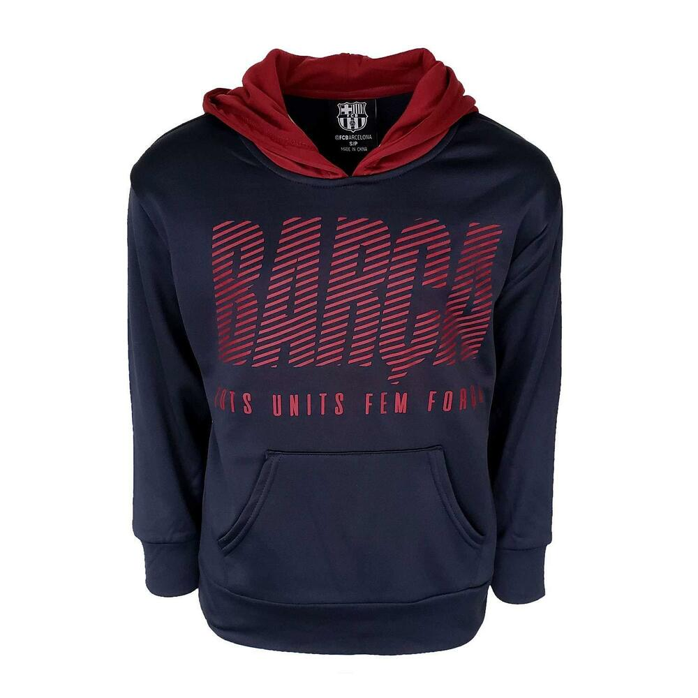 Details about FC Barcelona Zip UP Hooded FCB Sweatshirt Hoodie Pull Over  Jacket Youth Mens 8 2893e54ebde