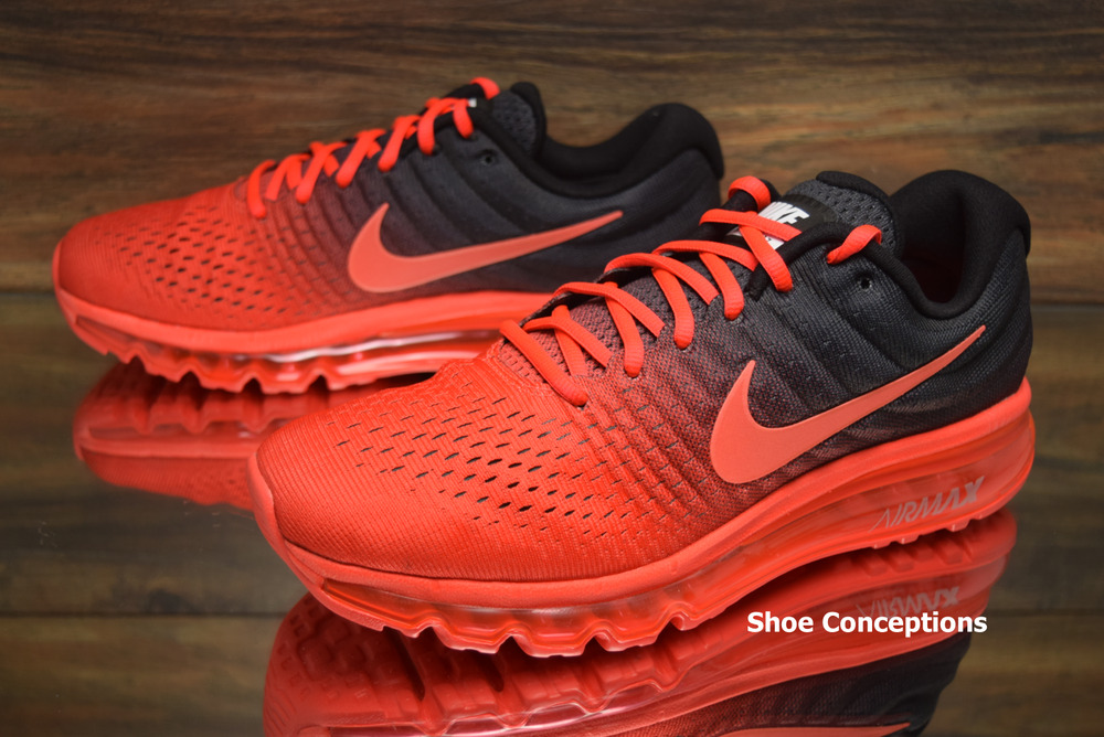4ddb327c3c89 Details about Nike Air Max 2017 Crimson Black 849559-600 Running Shoes  Men s - Multi Size