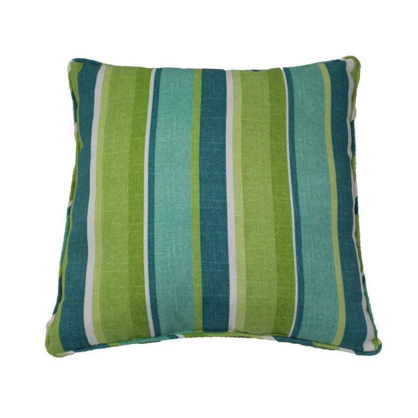 Seaweed Striped Outdoor Throw Pillow Piping By Lava Pillows 18 X