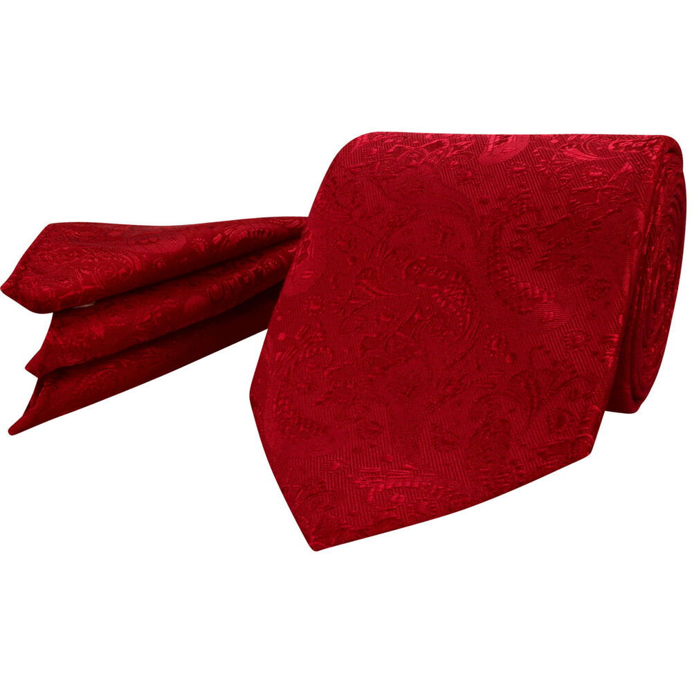 6322515d63 Details about Mens Red Paisley Tie Napkin Set Silk Floral Pocket Square  Hanky r118s