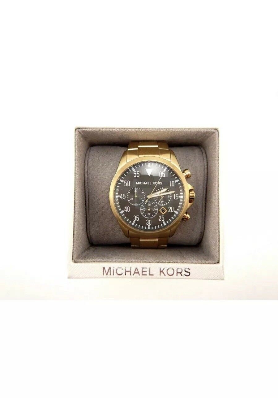 aaa2a7e6b74b ... UPC 796483123809 product image for Michael Kors Gage Chronograph Black  Dial Gold-tone Mens Watch
