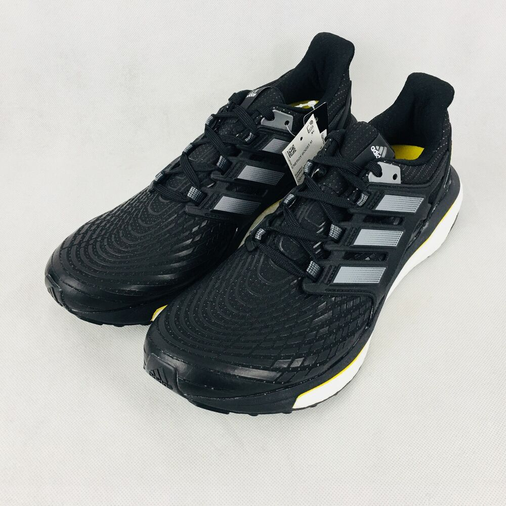 c3c384134c48 Details about New Adidas Energy Boost Men s Running Shoes Black White  CQ1762 Size 10.5