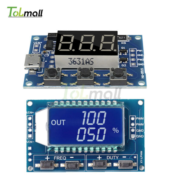 Adjustable Pulse Frequency Duty Cycle Square Wave PWM Signal Generator Module