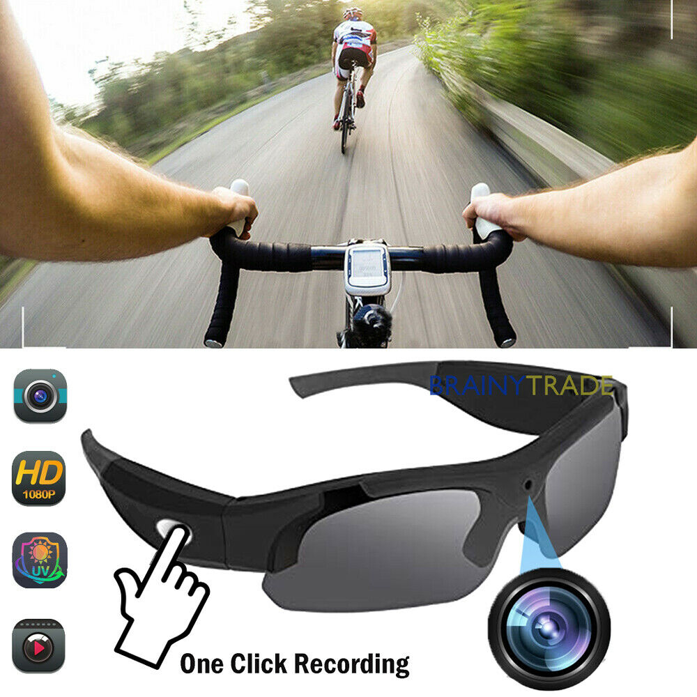 92ef121dae Details about 1080P Spy Camera Sun Glasses HD Mini Hidden Eyewear Recorder  Outdoor sunglasses