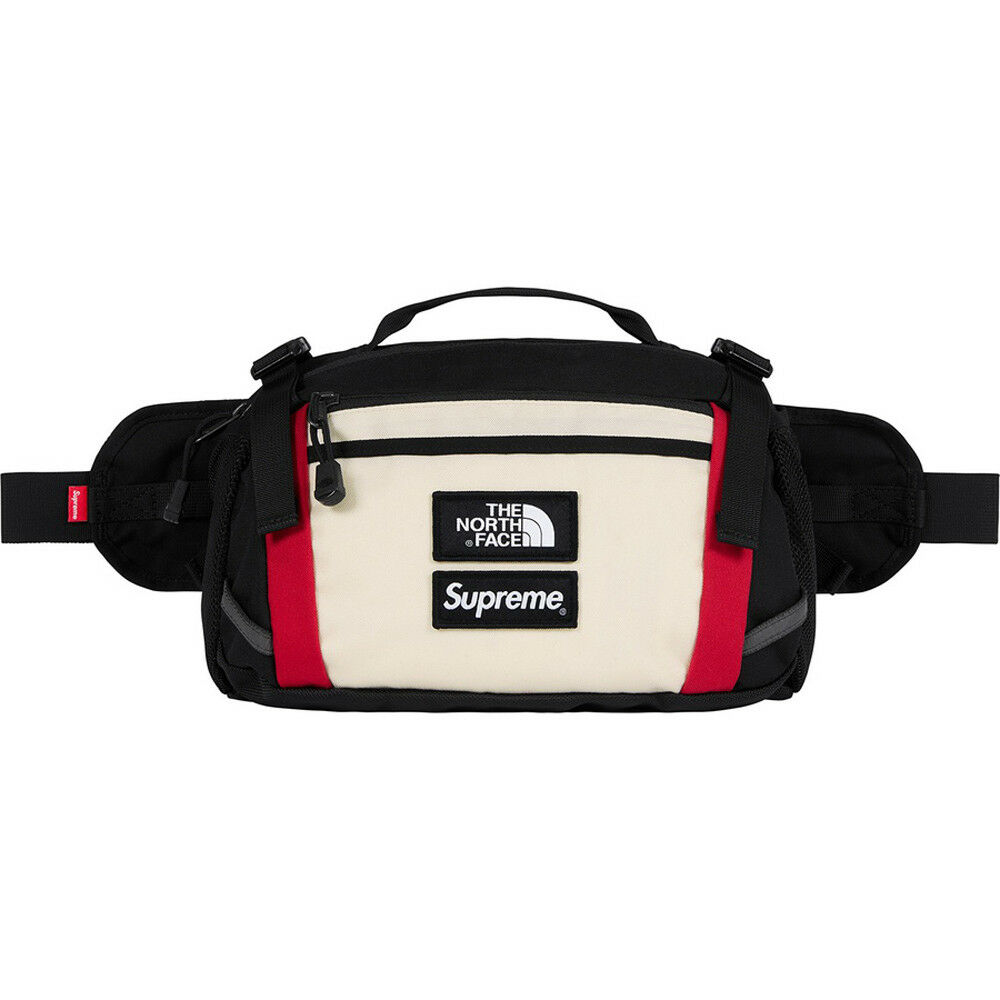 b64a6f880f42 Details about SUPREME FW18 THE NORTH FACE EXPEDITION WAIST BAG WHITE IN HAND
