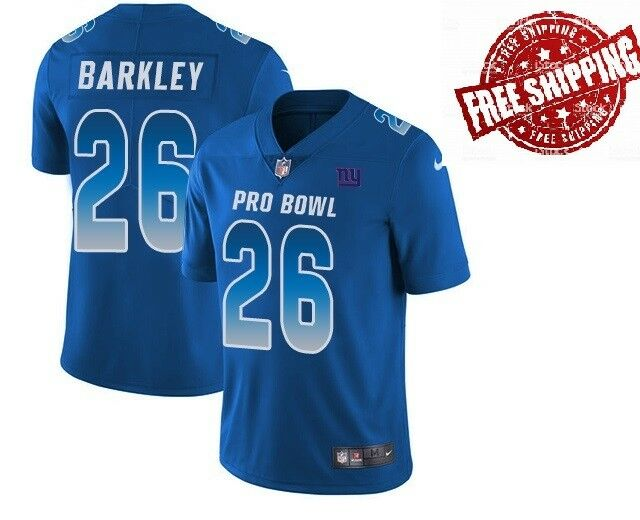 Details about Men s  26 Saquon Barkley New York Giants NFC 2019 Pro Bowl  Jersey Royal c3f9d3c85