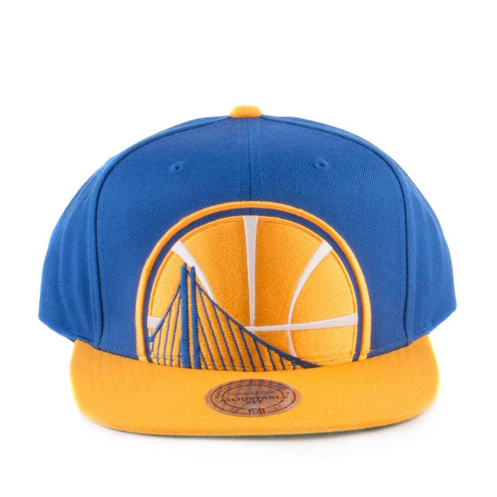 6edf1f5740a65b Details about Mitchell & Ness Golden State Warriors Cropped XL Snapback