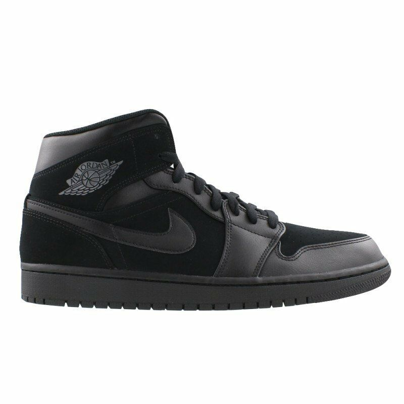 promo code 2b234 43e97 Details about New Nike Air Jordan 1 Mid BG Black Dark Grey-Black 554725-050  Gradeschool Retro