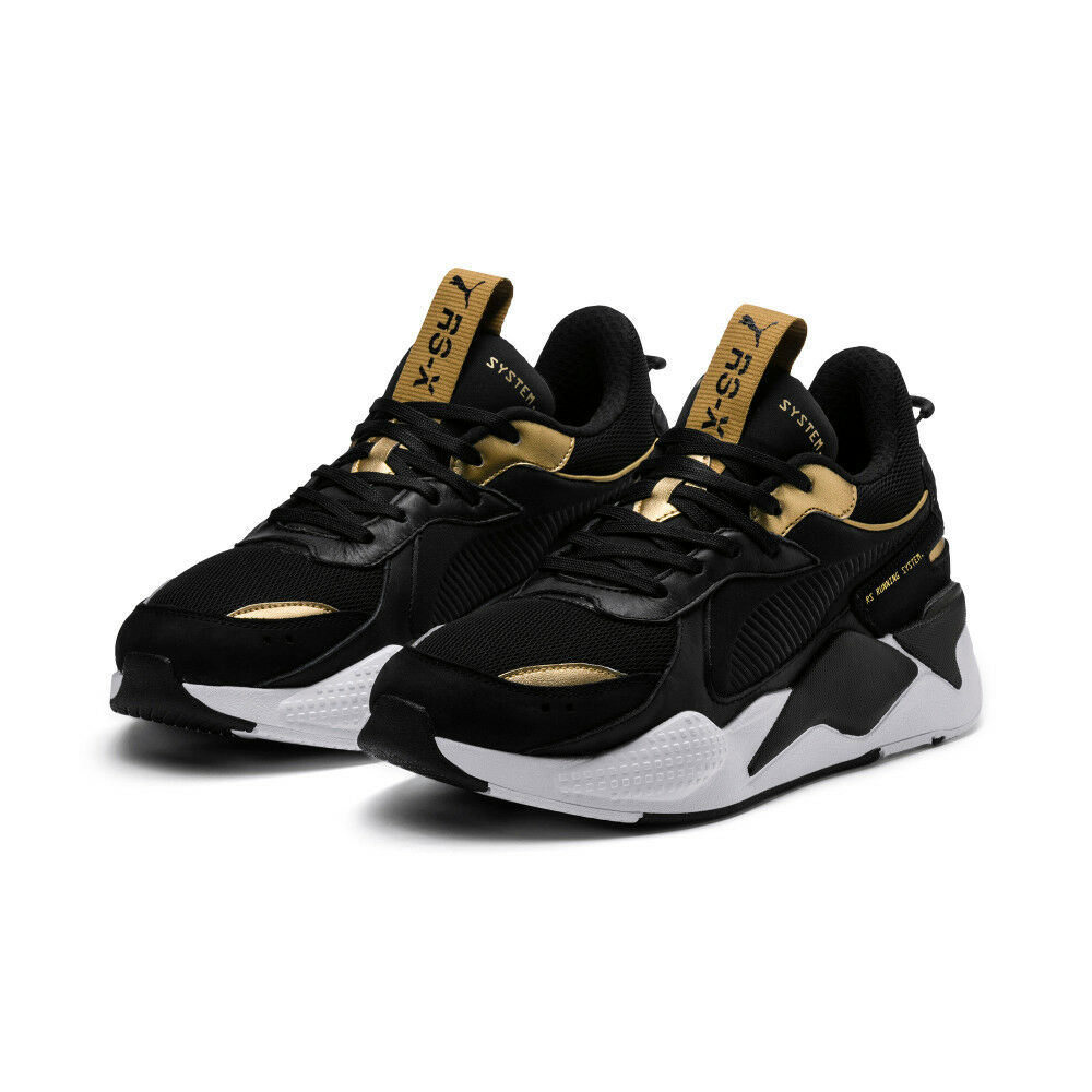 aeccf56f23f6 Details about New PUMA RS-X Trophy Sneakers Shoes- Black Team  Gold(369451-01 36945101)
